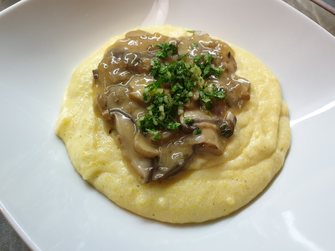 polenta & mushrooms